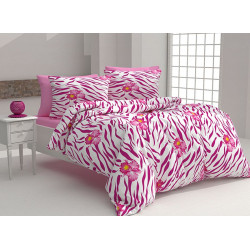 Спално бельо 100% Памук Касандра розе