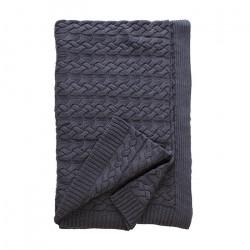 Бутиково плетено одеяло Тирол Сиво