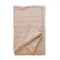 Бутиково плетено одеяло Тирол Бежово