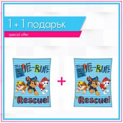 Детско висококачествено одеяло 1+1 Paw Patrol Rescue