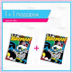 Детско висококачествено одеяло 1+1 Batman comics