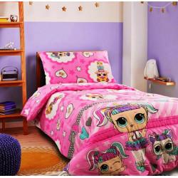 Детско спално бельо ранфорс LoL pink
