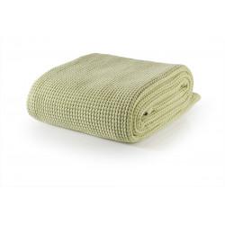 Бутиково памучно одеяло Марбела - зелено