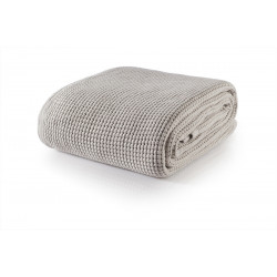 Бутиково памучно одеяло Marbella light beige