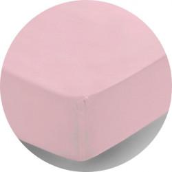Чаршаф с ластик 100% памучно трико светло розово