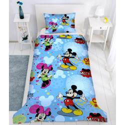 Детско спално бельо Mickey and Minnie Mouse blue