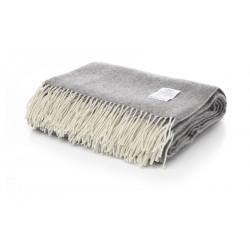 Одеяло от 100% мериносова вълна сиво