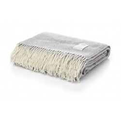 Одеяло от 100% мериносова вълна светло сиво