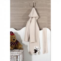 Детски халат за баня с апликация на Мече
