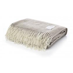 Одеяло от 100% мериносова вълна бежово