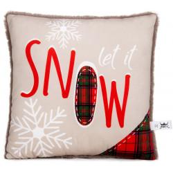 Коледна декоративна възглавница Snow