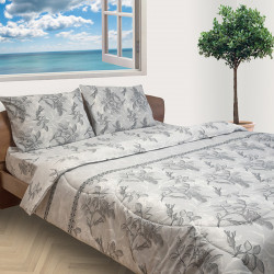 Спално бельо от фин 100% памук Пастел сиво