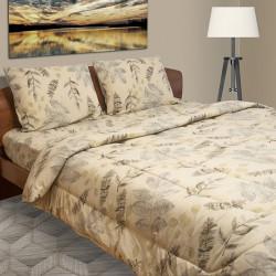 Спално бельо от фин 100% памук Пастел бежово
