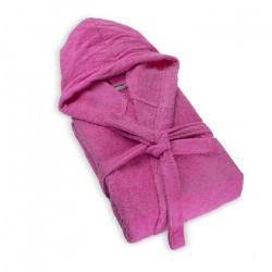 Халат за баня с качулка Розово