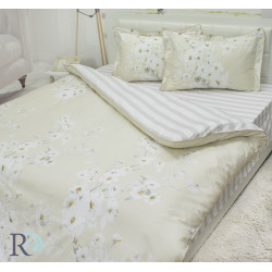 Флорално спално бельо Дани памучен сатен