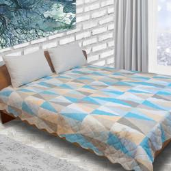 Дизайнерско шалте микрофибър Blue wave