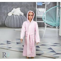 Детски хавлиен халат Точици розово