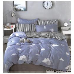 Двулицево спално бельо Cloudy сатен