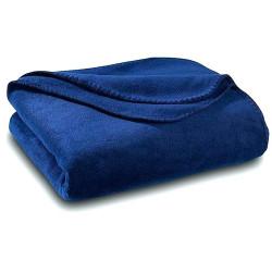Бюджетно поларено одеяло в тъмно синьо