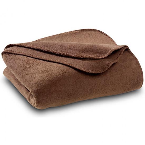Бюджетно поларено одеяло в кафяво
