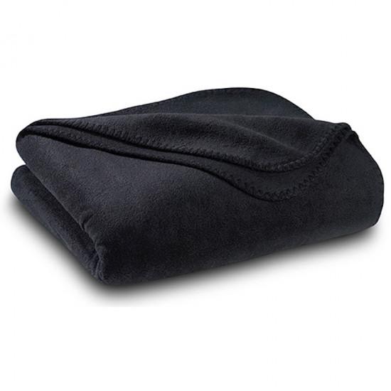 Бюджетно поларено одеяло в черно