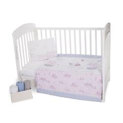 Бебешко спално бельо Заедно винаги ранфорс
