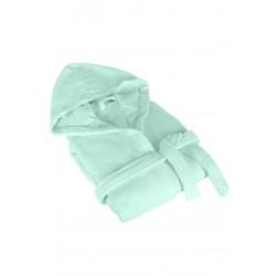 Халат за баня с качулка пастелено зелено