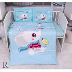 Бутиково спално бельо за бебе Слончето Лъчко