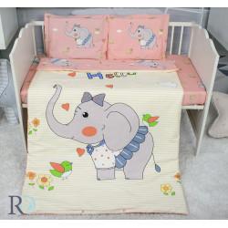 Бутиково спално бельо за бебе Слончето Нели
