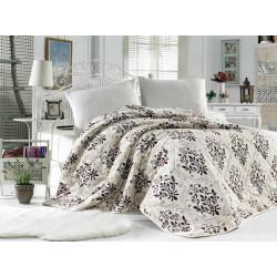 Поларена завивка , одеяло , шалте 3в1 Brownie