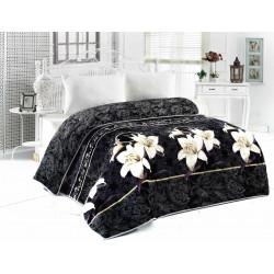 Поларена завивка , одеяло , шалте 3в1 Black Orchid