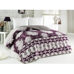 Поларена завивка , одеяло , шалте 3в1 Lilac
