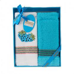Комплект хавлиени кърпи 2 броя Ягодки