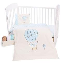 Ранфорс бебешко спално бельо Куче в Балон