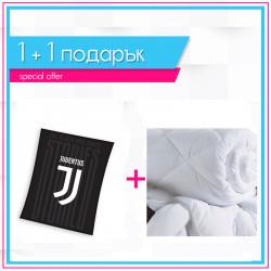 Футболно одеяло Juventus + олекотена завивка