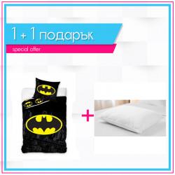 Детско спално бельо Батман + възглавница