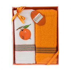 Комплект хавлиени кърпи 2 броя Мандарин