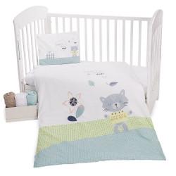 Висококачествено бебешко спално бельо Коте ранфорс