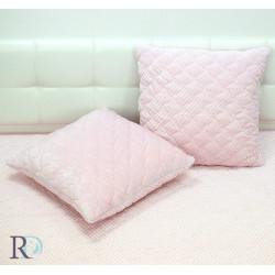 Пюшена декоративна възглавница Glo pudra pink