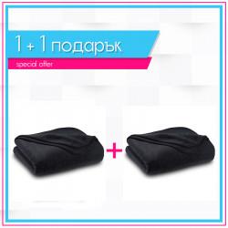 Два броя бюджетно поларено одеяло в черно