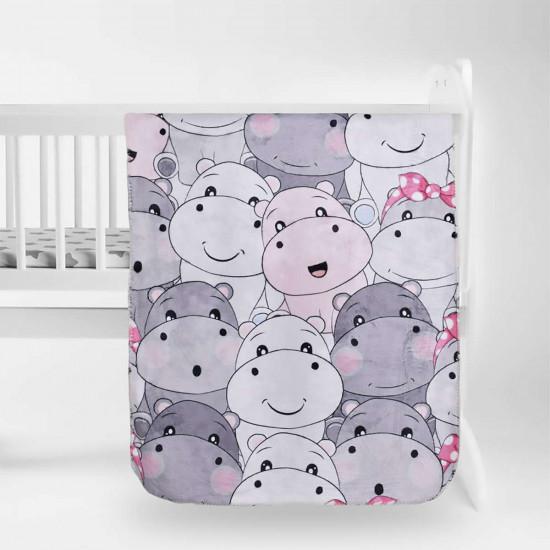 Бебешко одеяло - хипопотамчета