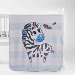 Бебешко одеяло - малката зебра