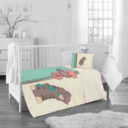 Бебешки спален комплект - игривото коте