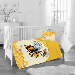 Бебешки спален комплект - жълтата пчеличка