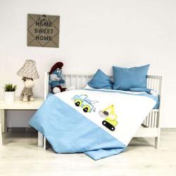 Бебешки спален комплект с бродерия - малкият строител