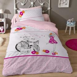 Детски спален комплект - момиче с колело