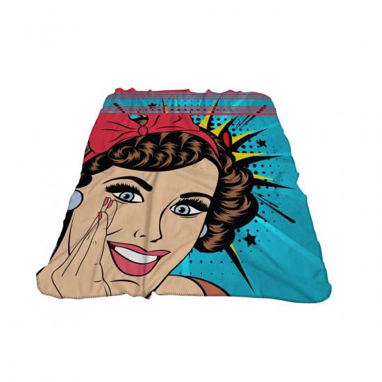 Бебешко одеяло - поп арт