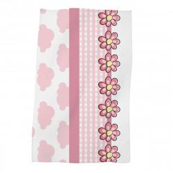 Детска хавлиена кърпа - розови маргаритки