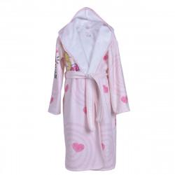 Детски хавлиен халат - розови сърца XL