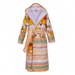 Детски хавлиен халат - жълти патенца S